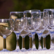 Empty champagne glasses — Stock Photo #2509258