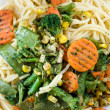 Spagheti with vegetables — Foto Stock