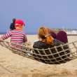 Mother and child in hammock — Stock Photo
