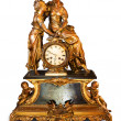 Antique clock with figurines - Stock Photo