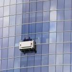 Skuscraper windows washers — Stock Photo #2511249