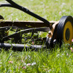 手の芝刈機 — ストック写真