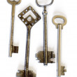 Old fashioned skeleton keys — Stock Photo