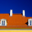 Stock Photo: Orange roof against blue sky