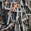 The Hill of Crosses in Lithuania - Stock Photo
