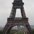Part of Eiffel tower — Stock Photo #2511844