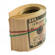 A roll of dollars — Stock Photo
