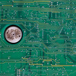 Old circuit board — Stock Photo