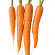 Fresh carrots on white — Stock Photo