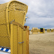 Beach wicker chair in Germany — Stock Photo