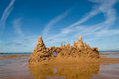 Sand castle at the beach — Stock Photo