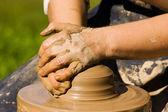 Potters handen — Stok fotoğraf