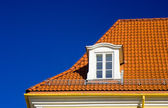 Tiled roof and one window — Stock Photo
