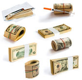 Collection of Dollars — Stock Photo