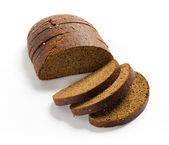 Sliced brown rye bread — Stock Photo