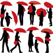 With umbrellas — Stock Vector #2511212