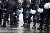 Bereitschaftspolizei — Stockfoto