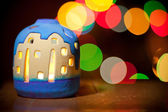 Christmas candlestick — Stock Photo
