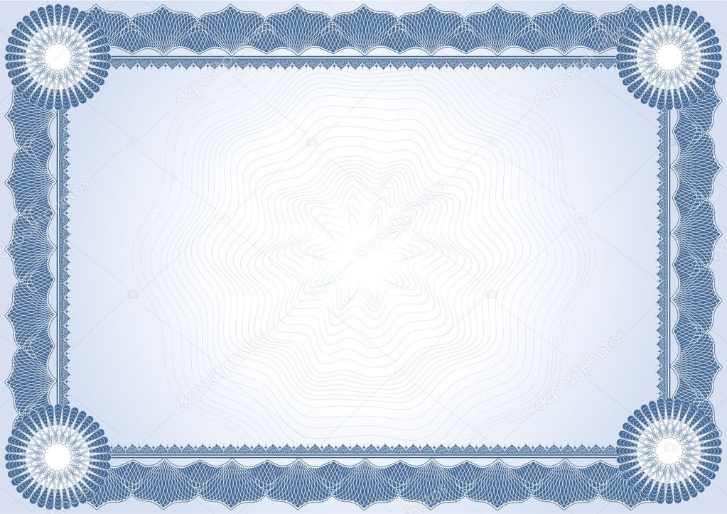 certificate diploma stock illustration