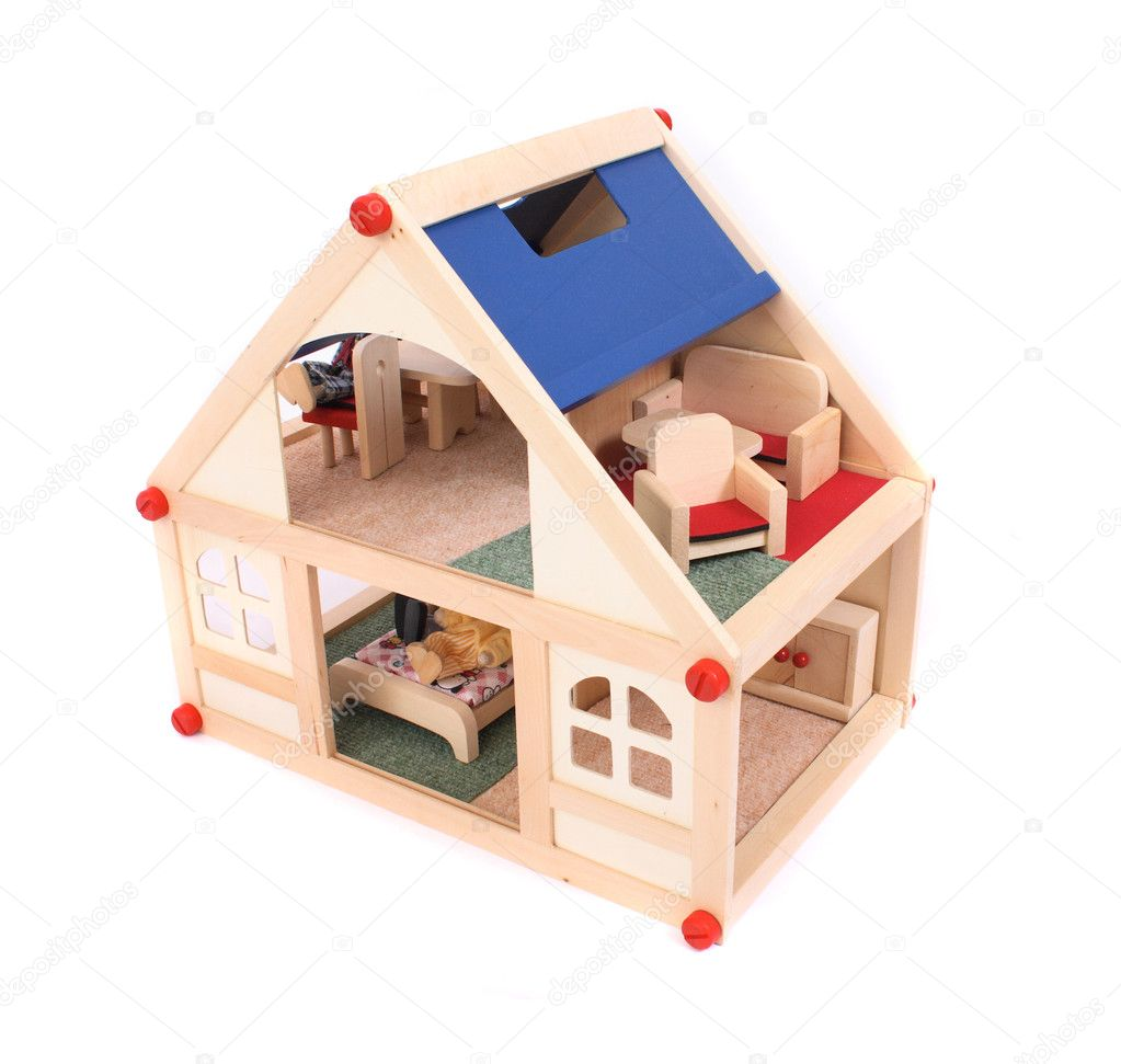 Nice house toy isolated on the white background — Stock Photo #2419777