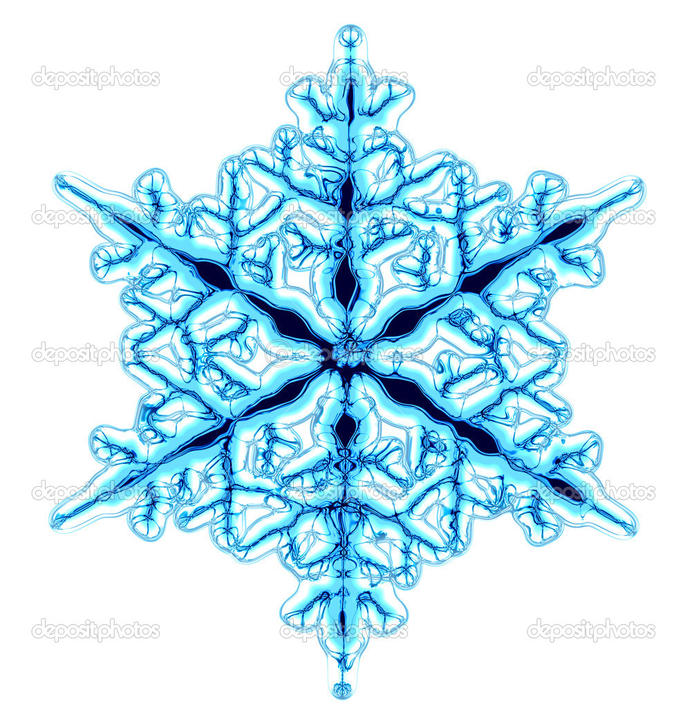 Abstract blue snowflake isolated on the white background — Stock Photo #2519391
