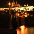 Prague in the night — Stock Photo