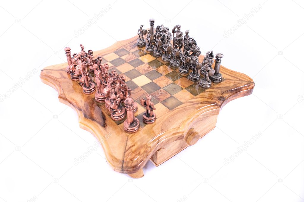 Chess set on the white background — Stock Photo #2680714