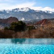 Pool With Mountain View — Stock Photo