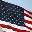 United States Flag with Ship Sail — Stok fotoğraf