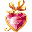 Royalty-Free Stock Vectorielle: Gold heart shaped pendant