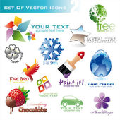 Set of icons — Stock Vector