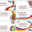 Collection of  business cards — Image vectorielle