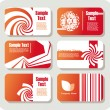 Stock Vector: Collection of business cards