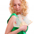 Royalty-Free Stock Photo: Girl with a fan