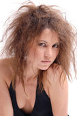 Girl with an ugly hair-do — Stock Photo