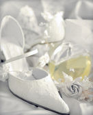 Bridal wedding shoe — Stock Photo