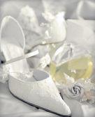 Scarpe da sposa da sposa — Foto Stock