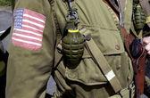 Amerikanska världskriget två gi soldat — Stockfoto