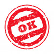 Stock Photo: Okay stamp