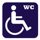 Disabled toilet button — Stock Photo