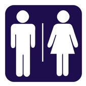 Male and female toilet button — Photo