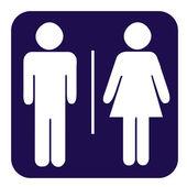 Manliga och kvinnliga toalett-knappen — Stockfoto