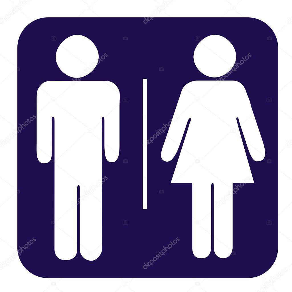 Botão de banheiro masculino e feminino — Fotografias de Stock © speedfighter1 -> Homens Banheiro Feminino