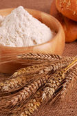 Wheat with decoration — Stock Photo