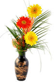 Flowers - gerbera in vase — Stock Photo