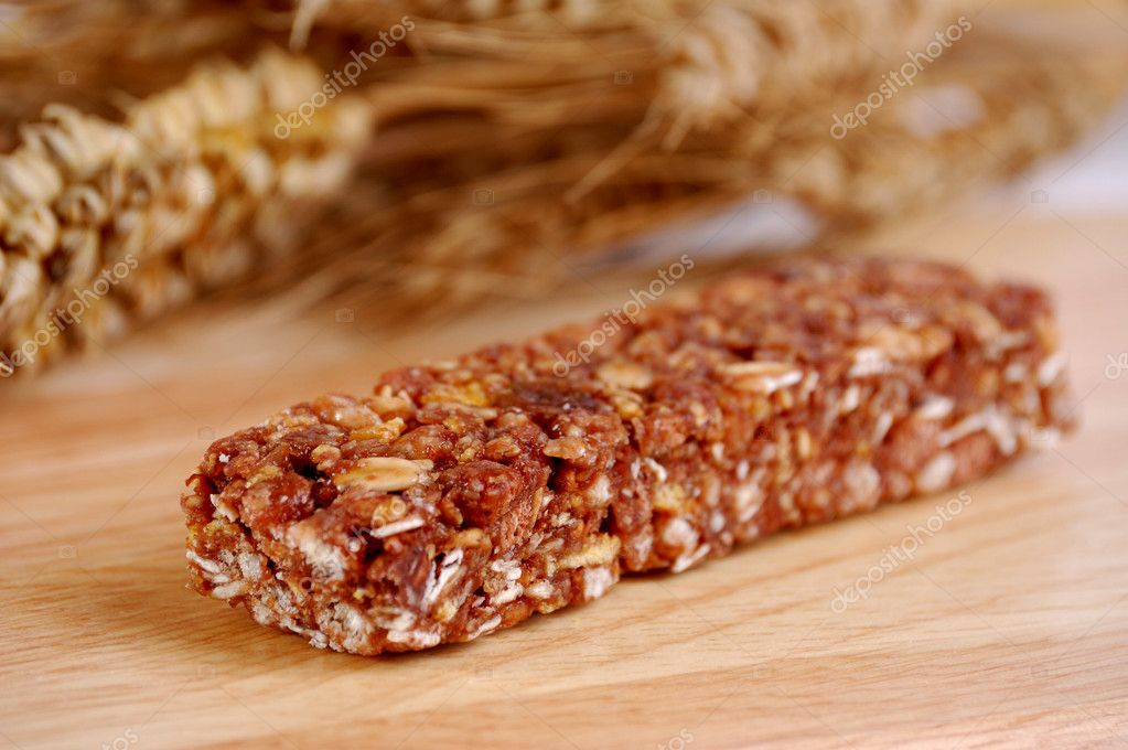 Cocoa cereal bar on the table top  Stock Photo #2446540