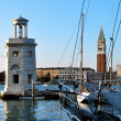 Lighthouse and San Marco — Stock Photo