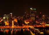 Pittsburgh at night — Stock Photo