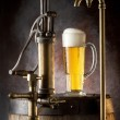 Still-life with beer and barrels — Stockfoto