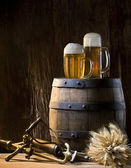 Still-life with beers — Stock Photo